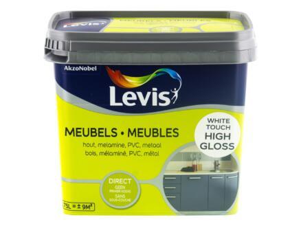 Levis peinture meubles brillant 0,75l white touch