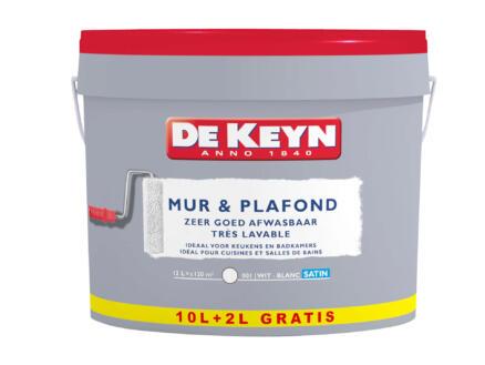 De Keyn peinture mur & plafond mat 10+2l blanc #001