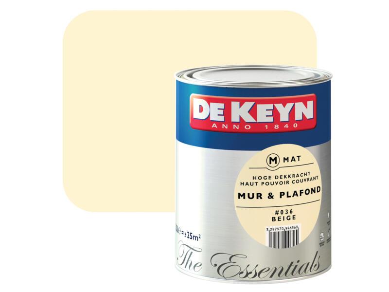 peinture mur & plafond mat 2,5l beige #036