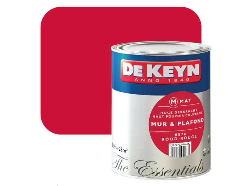 peinture mur & plafond mat 2,5l rouge #576