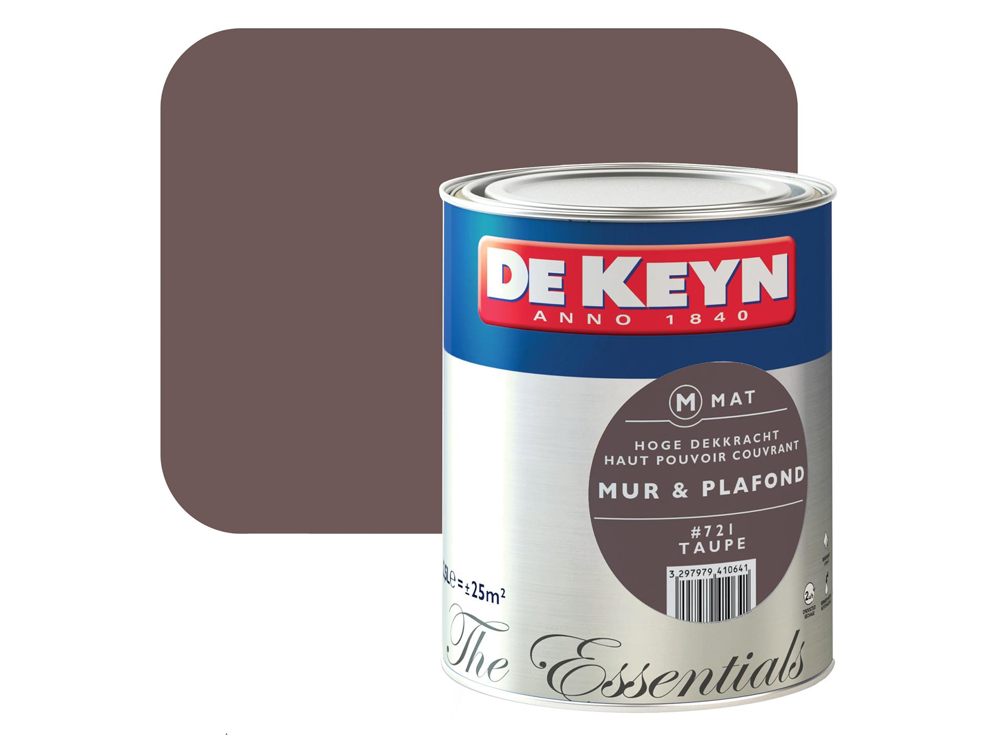 De Keyn Peinture Mur Plafond Mat 2 5l Taupe 721