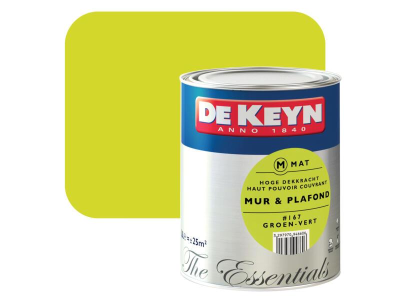 De Keyn peinture mur & plafond mat 2,5l vert #167
