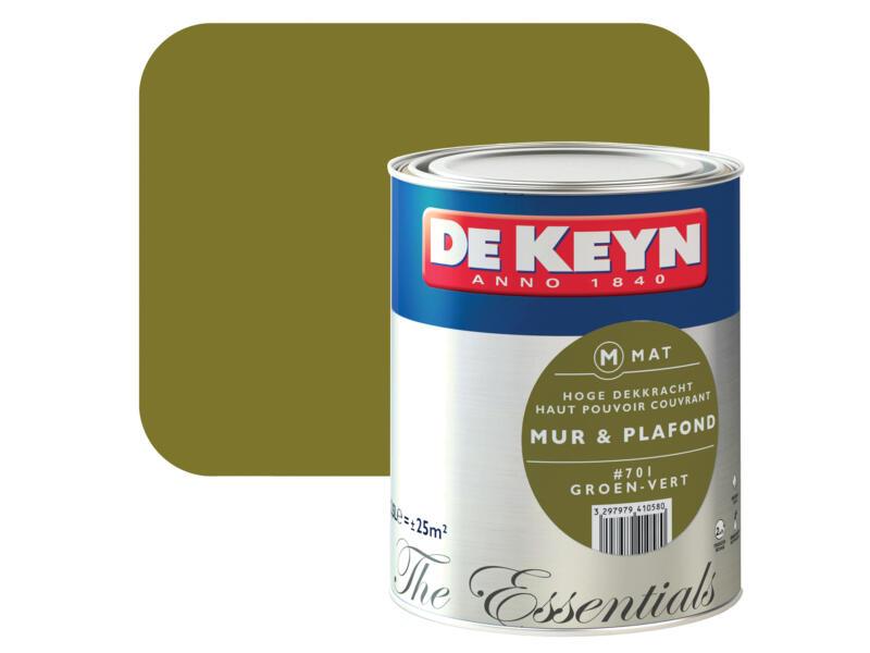 De Keyn peinture mur & plafond mat 2,5l vert #701
