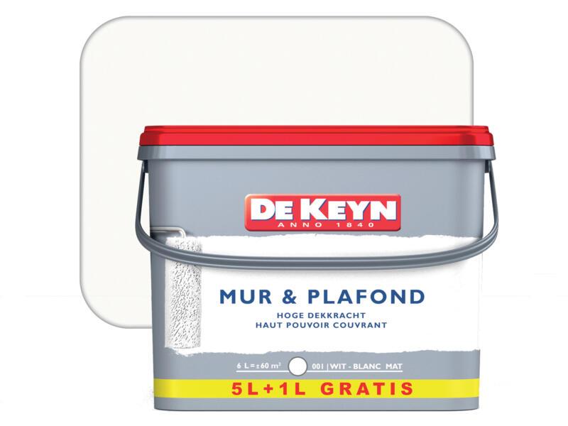De Keyn peinture mur & plafond mat 5+1l blanc #001