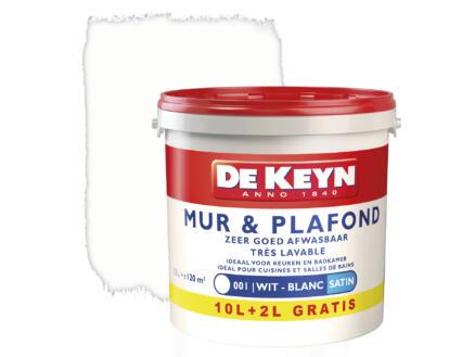 De Keyn peinture mur & plafond satin 10+2l blanc #001