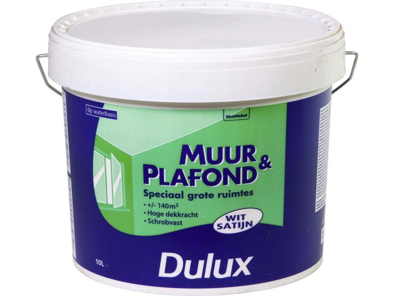 Dulux Peinture Mur Plafond Satin 10l Blanc Hubo