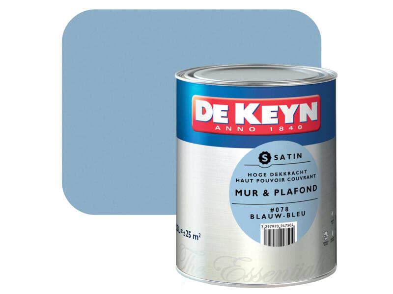 De Keyn Peinture Mur Plafond Satin 2 5l Bleu 078 Hubo