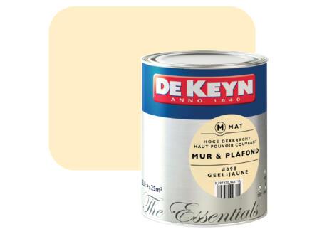 peinture mur & plafond satin 2,5l jaune #098
