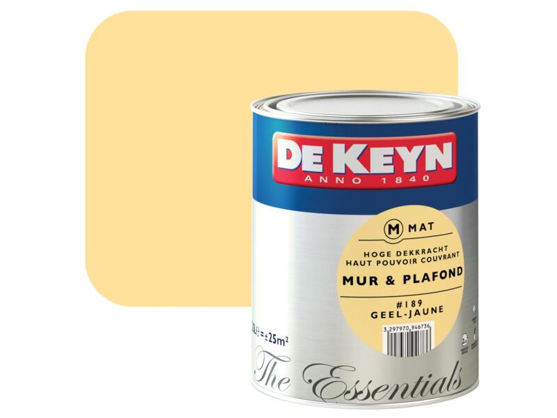 peinture mur & plafond satin 2,5l jaune #189