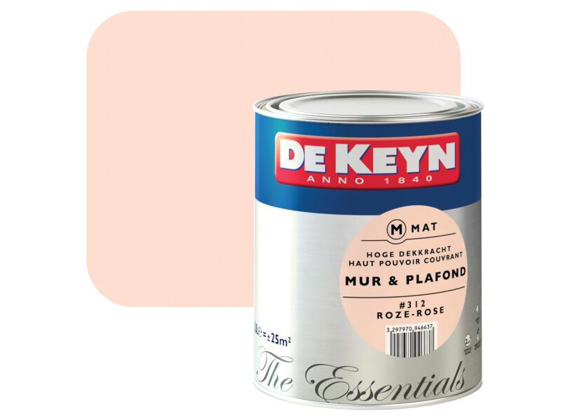 De Keyn peinture mur & plafond satin 2,5l rose #312