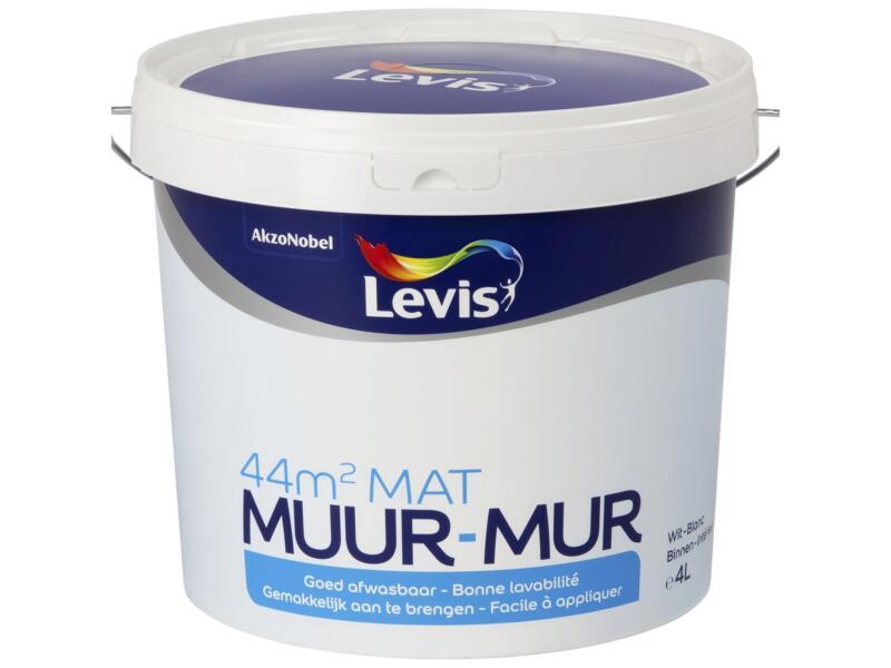 Levis peinture murale intérieur mat 4l blanc