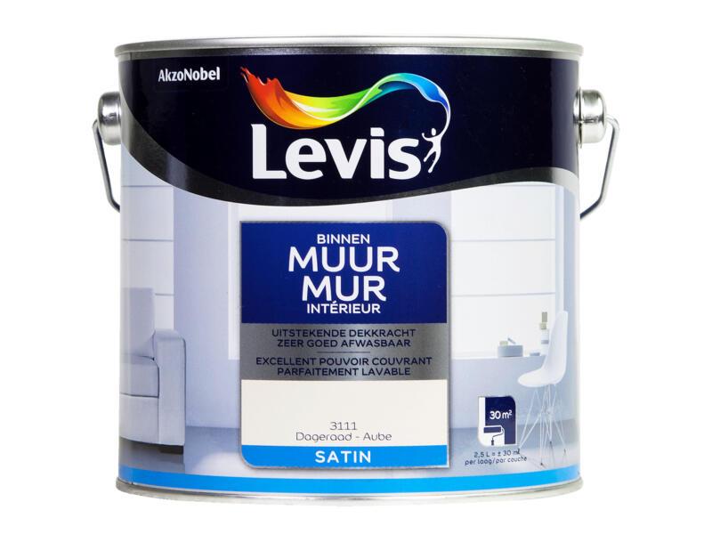 Levis peinture murale intérieur satin 2,5l aube