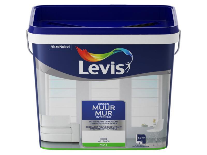 Levis peinture murale latex mat 5l blanc