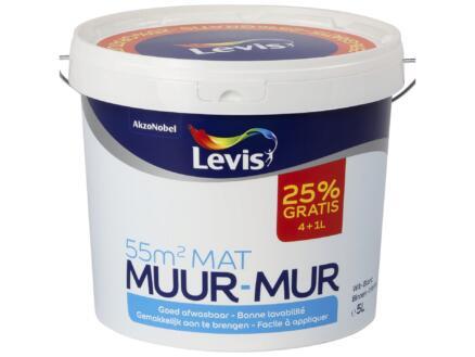 Levis peinture murale mat 4+1l blanc