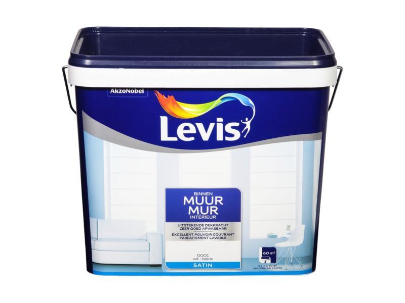 Levis peinture murale satin 5l blanc
