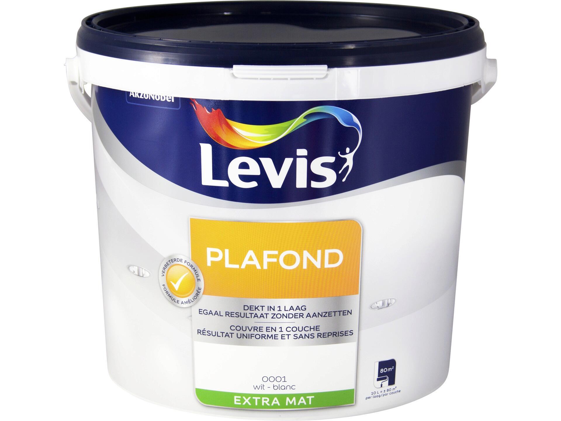Levis peinture plafond extra mat 10l blanc | Hubo