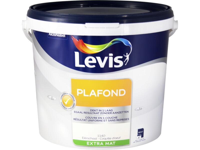 Levis peinture plafond extra mat 10l coquille d'oeuf