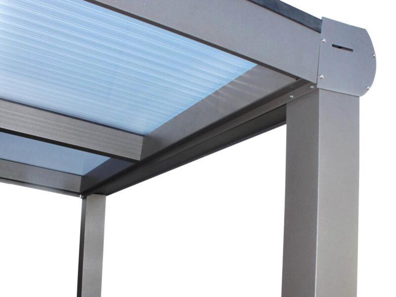 Scala pergola 3x3 m transparent/bronze