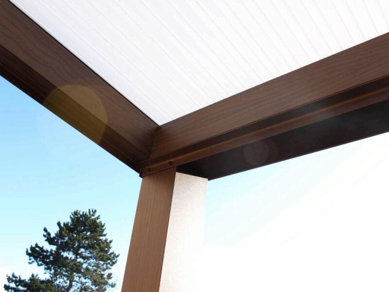 Scala pergola 4x2,5 m opalin/chêne