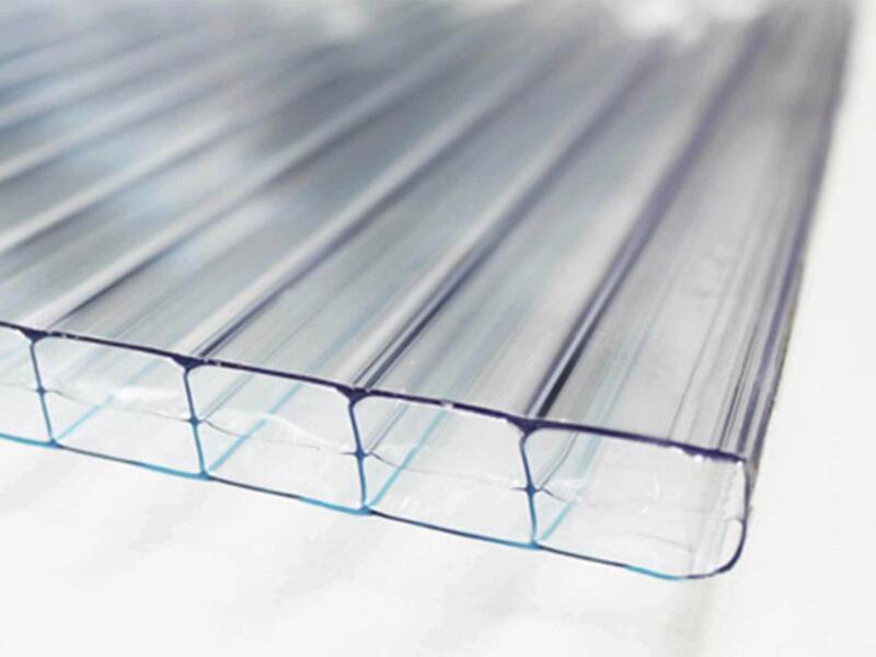 Scala pergola 5x4 m transparent/chêne