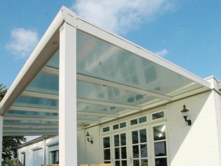 Scala pergola 7x3,5 m transparent/blanc