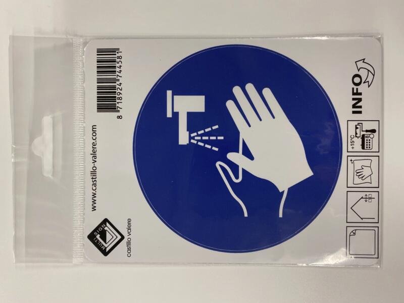 Multisign pictogramme autocollant lavez-vous les mains 10cm