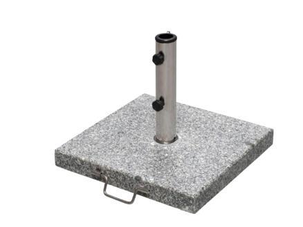 Garden Plus pied de parasol à roulettes granit 30kg gris