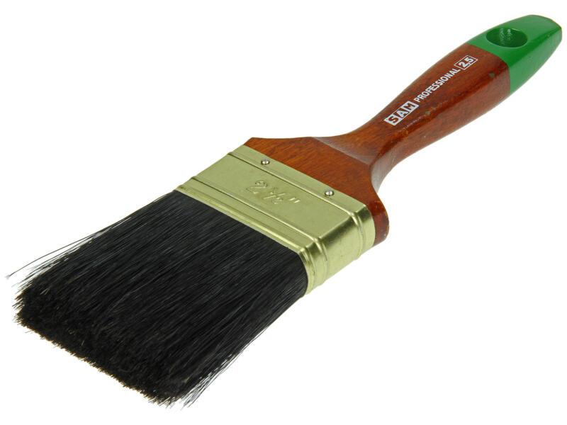 Sam pinceau professionnel plat lasure 65mm
