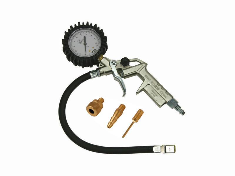 Stanley pistolet de gonflage avec manomètre + 3 embouts de gonflage