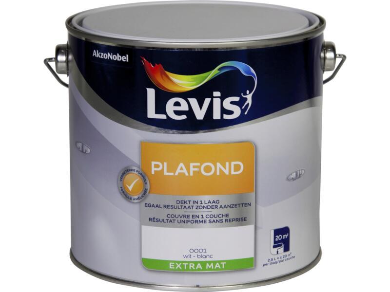 Levis plafondverf extra mat 2,5l wit