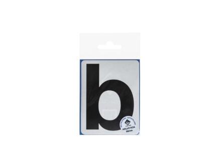 Multisign plakletter b 90mm zwart mat