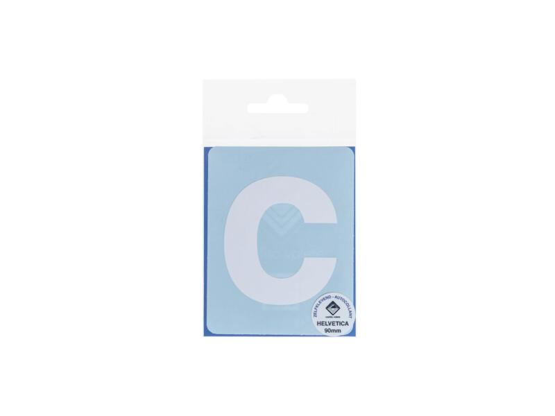 Multisign plakletter c 90mm wit mat
