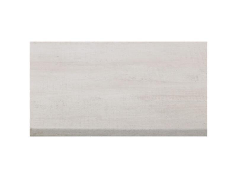CanDo plan de travail 29mm 182x60 cm bois récuperé blanc