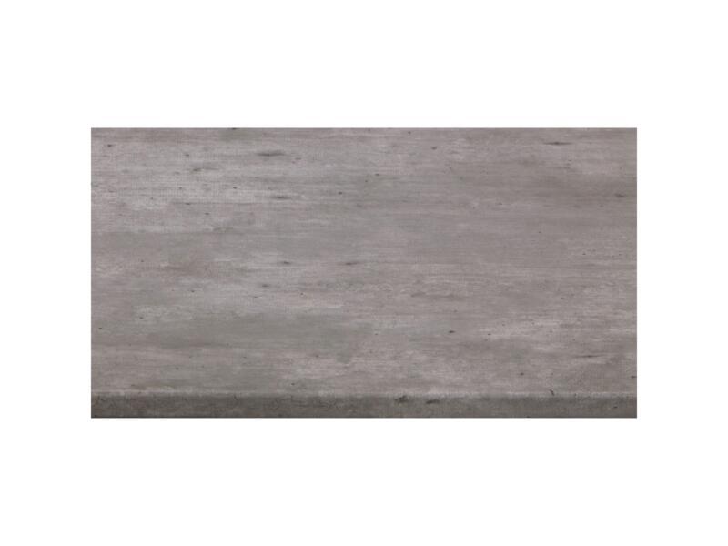 CanDo plan de travail 29mm 182x60 cm gris industriel