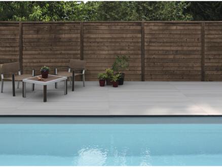 Grad By You planche de terrasse 200x12x2,1 cm composite gris clair