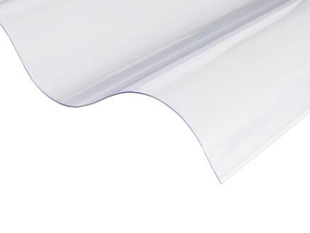 Scala plaque ondulée 177/51 153x110 cm 0,8mm pvc transparent