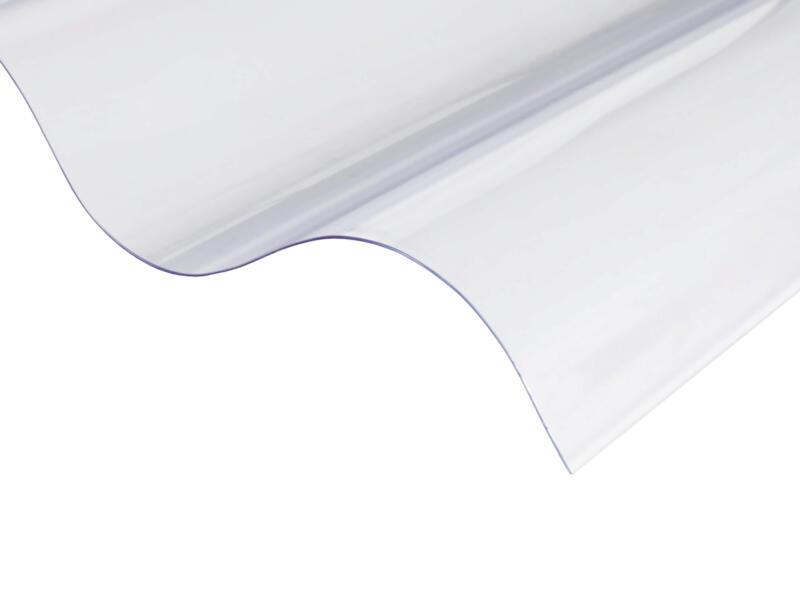 Scala plaque ondulée 177/51 244x110 cm 0,9mm pvc transparent