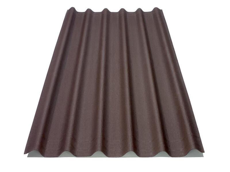 Onduline plaque ondulée 200x81 cm 2,6mm brun