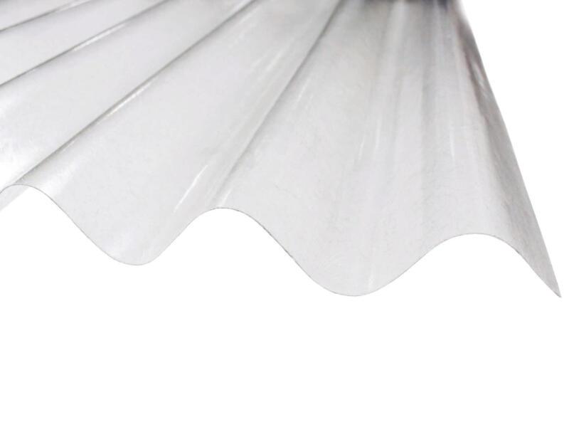 Scala plaque ondulée 76/18 153x90 cm polyester transparent
