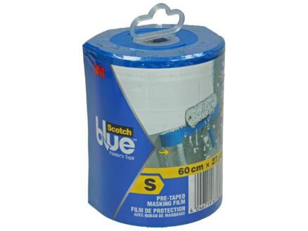 Scotch Blue plastique de protection 27,4m x 60cm transparent + distributeur