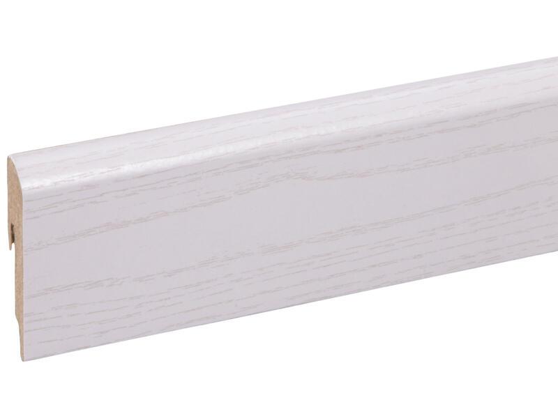 CanDo plint 56x10 mm 240cm wit essen