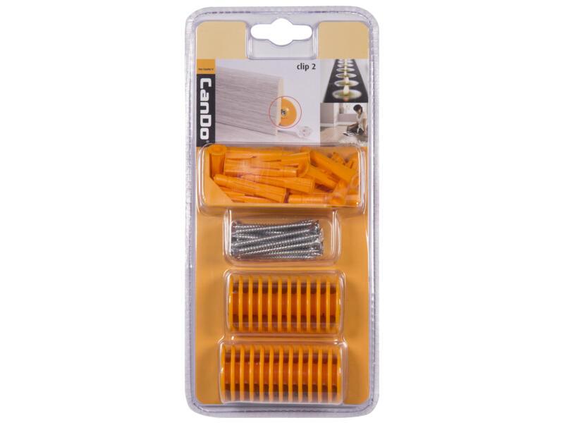 CanDo plintpluggen oranje 25 stuks