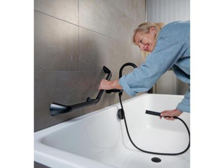 Secucare poignée de baignoire 45˚ noir mat