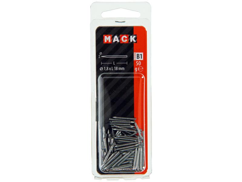 Mack pointes vitrier 1,8x18 mm 50g