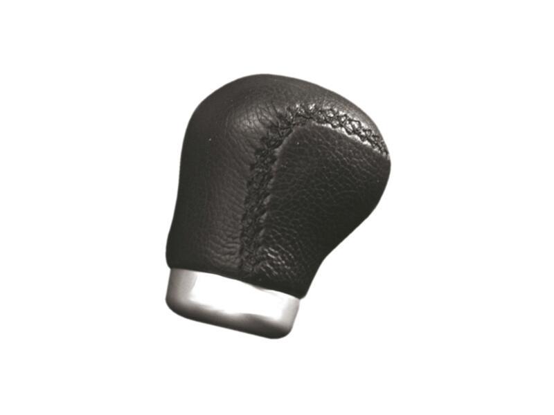 Carpoint pommeau levier de vitesse aluminium cuir noir