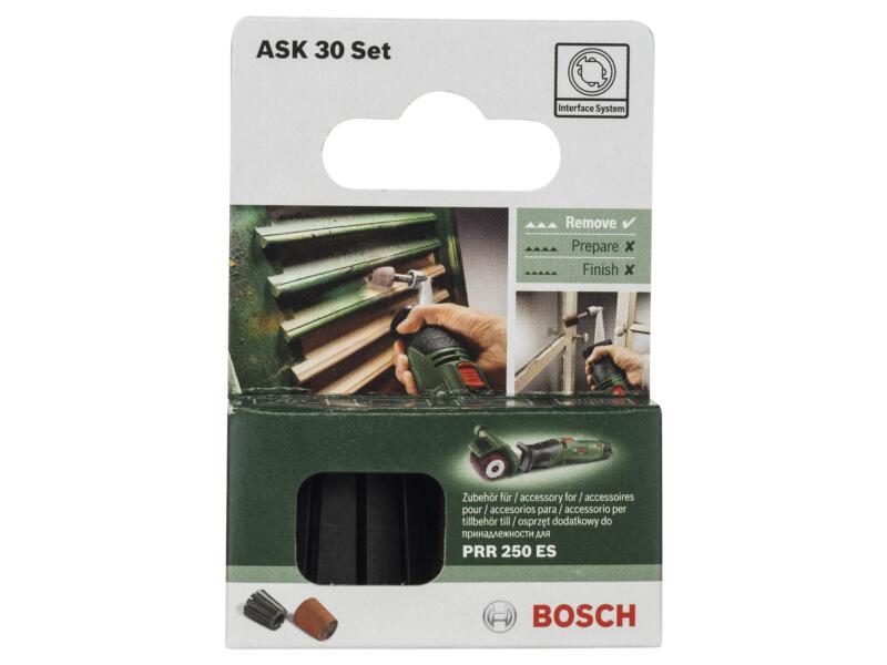 Bosch porte-outil + manchon abrasif pour PRR 250 ES K80 30mm