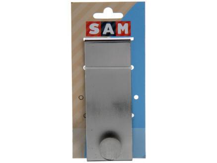 Sam portemanteau de porte 1 crochet acier mat brossé