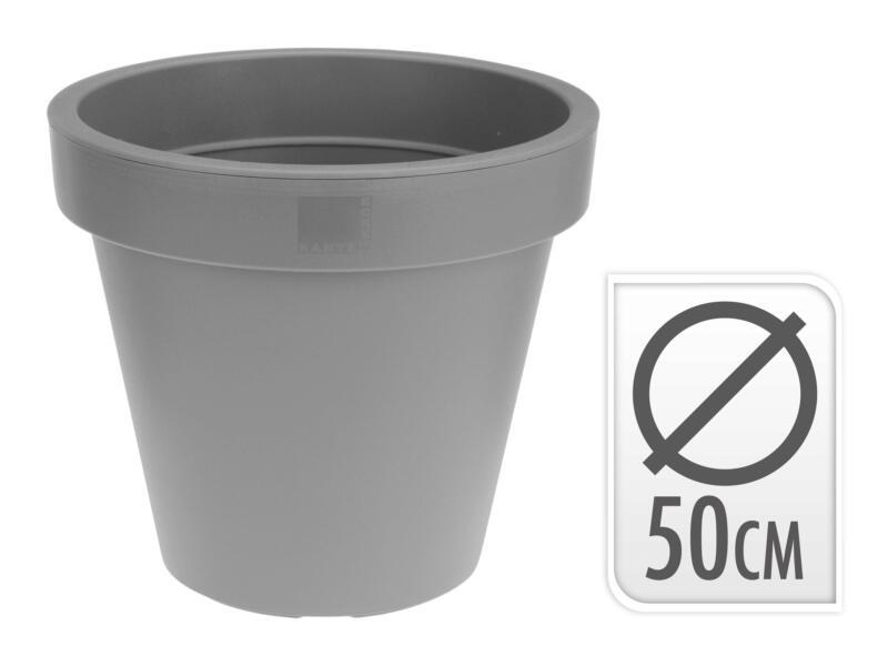 pot à fleurs 30cm anthracite/blanc/gris clair
