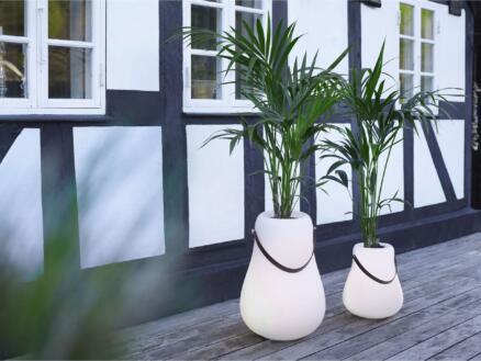 pot à fleurs lumineux 34cm blanc