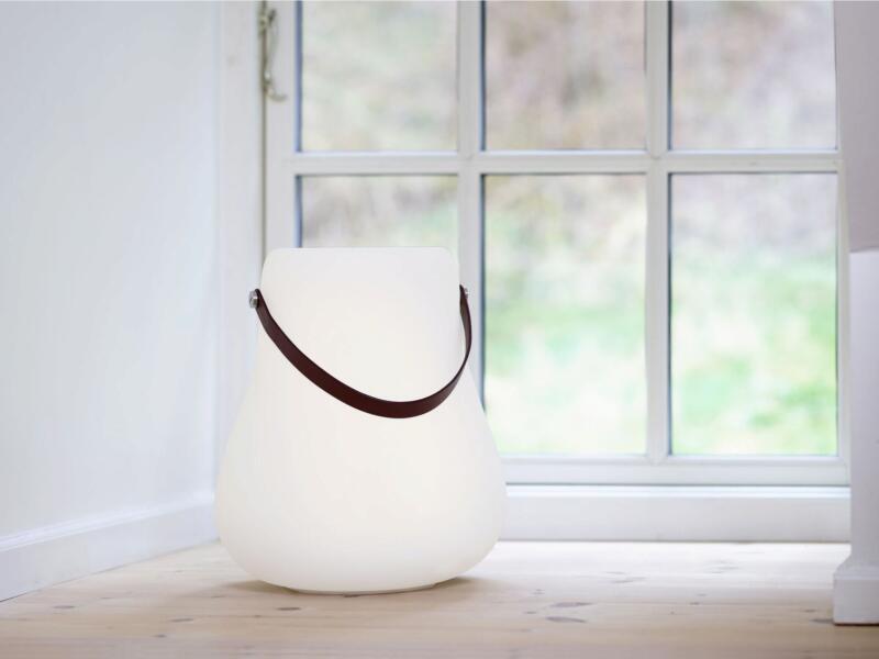 pot à fleurs lumineux avec haut-parleur 30cm blanc